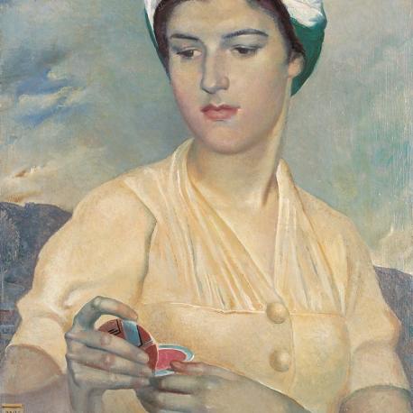 Portret córki z puderniczką