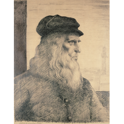 Szkic do portretu Leonardo da Vinci