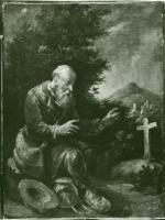 Żebrak na cmentarzu