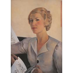 Portret pani z nutami