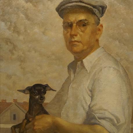 Autoportret z pieskiem
