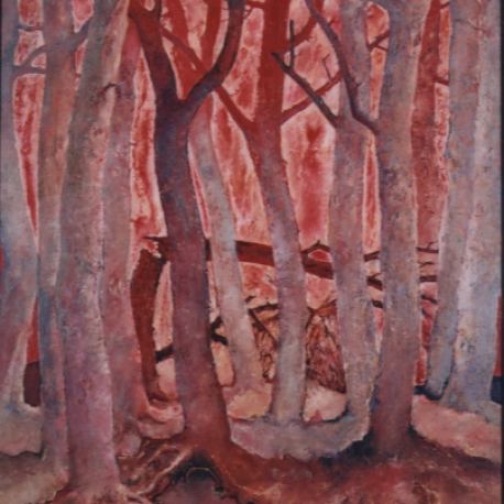 Płonący las