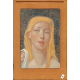 Portret kobiety o blond włosach