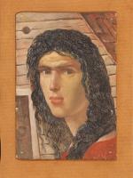 Portret kobiety z czarnymi włosami
