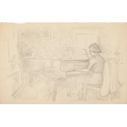 Julitta przy fortepianie