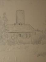 Pejzaż z Łagowa. Zamek Joannitów