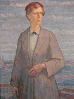 Portret żony na tle Wilna