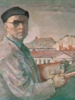 Autoportret na tle Wilna