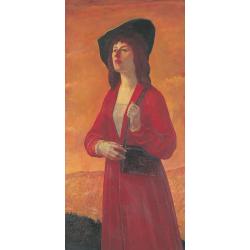 Portret córki Julitty (w zielonym kapeluszu i płaszczu koloru bordo)