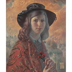 Portret córki w szalu hiszpańskim